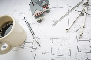 Model Home, Coffee & Tools on Plans