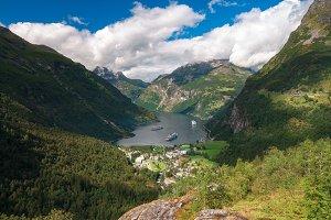 The Geirangerfjorden In Norway