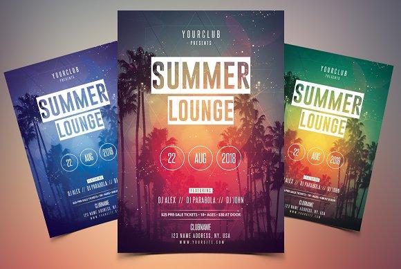 Summer Lounge PSD Flyer