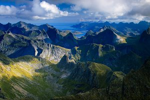 Hermannsdalstinden Summit in Lofoten, Norway