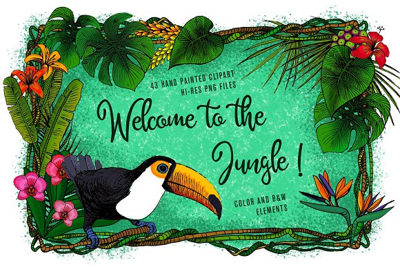 Welcome To The Jungle Tropical Set