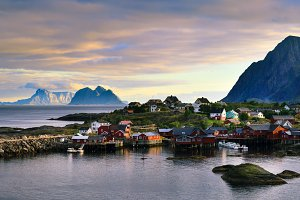 Fishing Village of Tind in Lofoten.