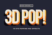 3D POP! Photoshop Effects by Kim Wilson in Layer Styles