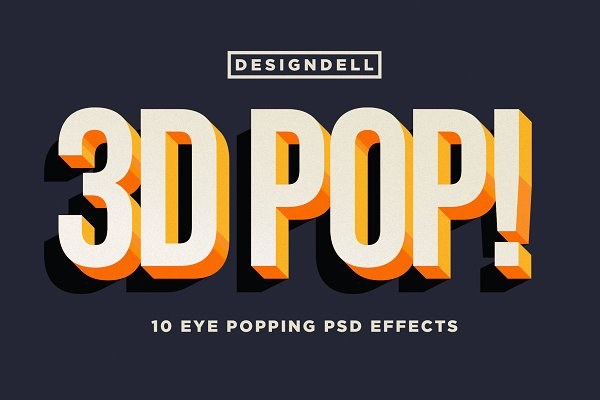 Photoshop Layer Styles: Designdell - 3D POP! Photoshop Effects