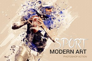 Sport Modern Art Photoshop Action