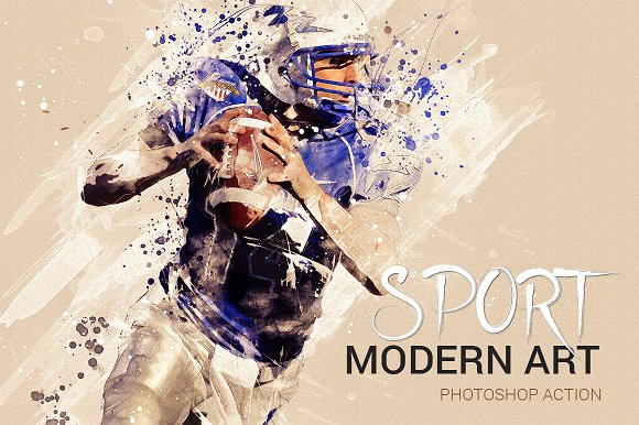 Sport Modern Art Photoshop Action