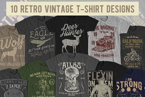 10 Retro Vintage T-Shirt Designs