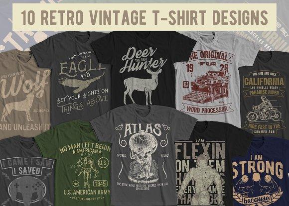 10 Retro Vintage T-Shirt Designs