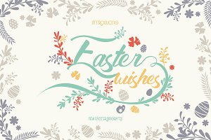 Easter Wishes Dingbats