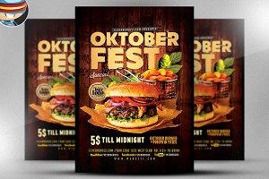 OktoberFest Food Flyer Template V4