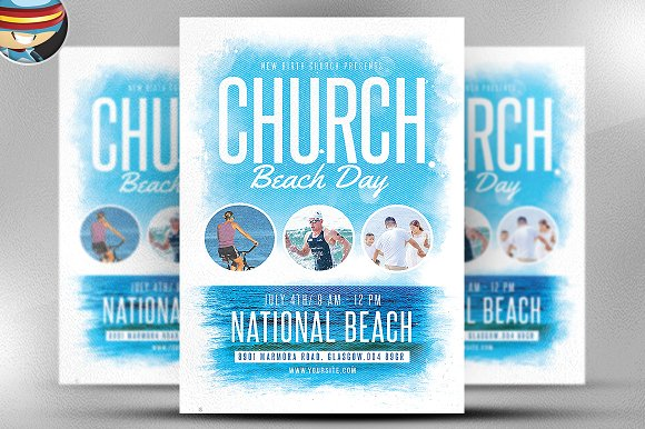 Church Beach Day Flyer Template