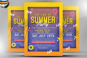 End of Summer Pool Party Flyer