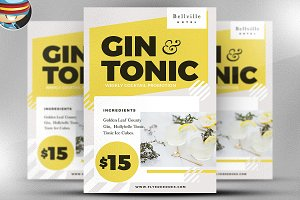 Gin and Tonic Flyer Template