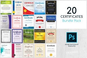 20 Certificate Templates Pack