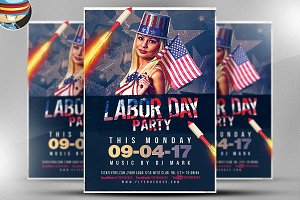 Labor Day Party Flyer Template v5