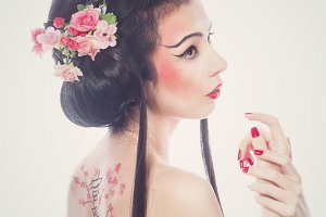 Beautiful geisha.