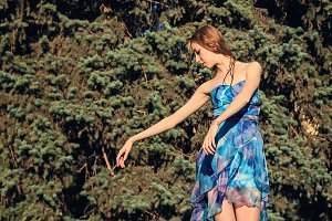 Ballet dancer dancing outdoors