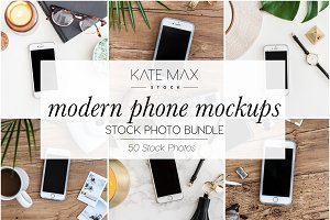Modern Phone Stock Photo Bundle