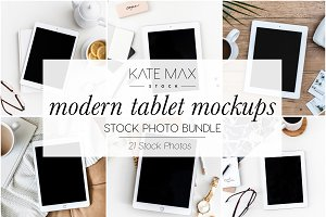 Modern Tablet Stock Photo Bundle