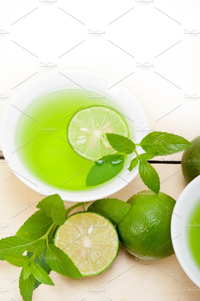 mint tea infusion with lime 059.jpg - Food & Drink