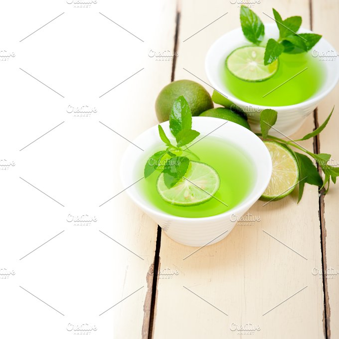 mint tea infusion with lime 002.jpg - Food & Drink