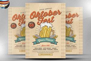 Retro OktoberFest Flyer Template v2