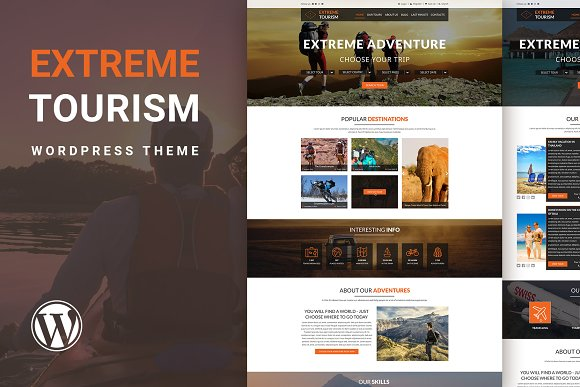 Extreme Tourism WordPress Theme