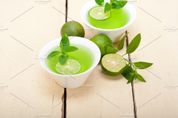 mint tea infusion with lime 007.jpg - Food & Drink