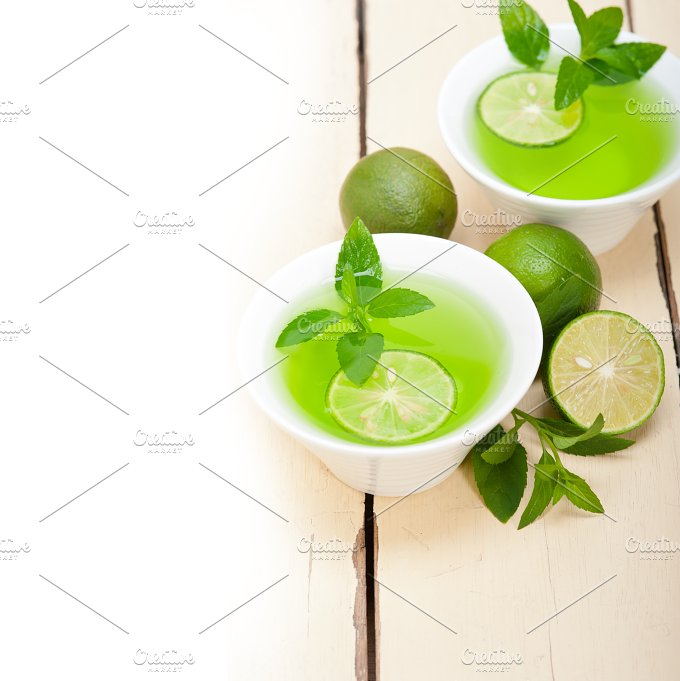 mint tea infusion with lime 008.jpg - Food & Drink
