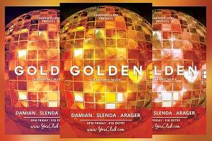 Golden EDM Flyer