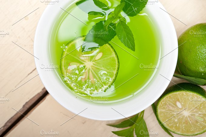 mint tea infusion with lime 010.jpg - Food & Drink