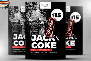Jack and Coke Flyer Template