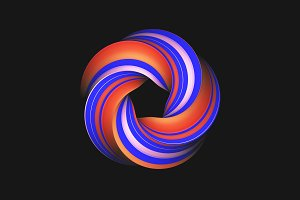 Colored abstract twisted circle
