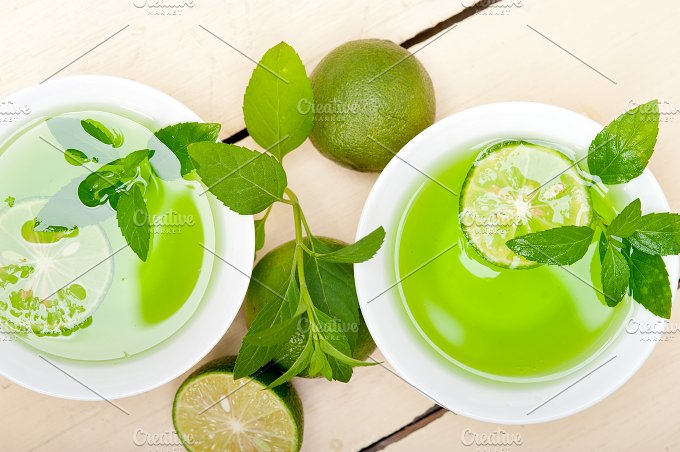 mint tea infusion with lime 021.jpg - Food & Drink