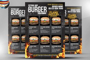 Burger Takeaway Flyer Template