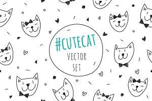 Cute cats: 2 patterns + 2 cards