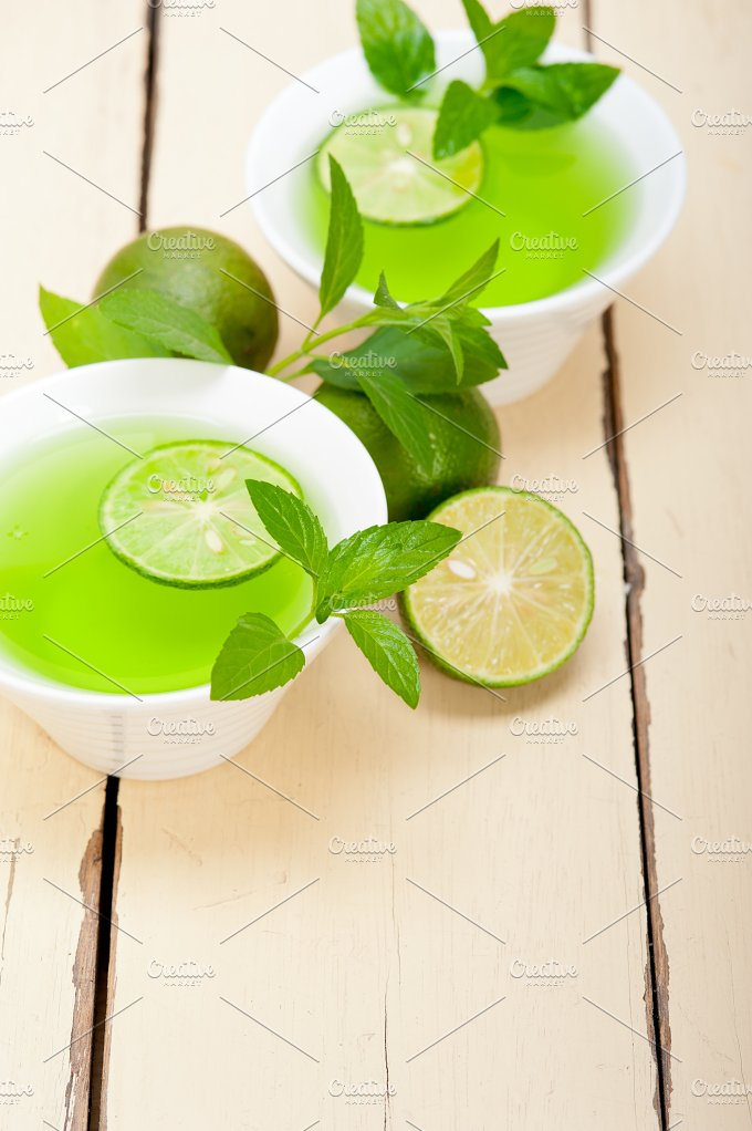 mint tea infusion with lime 026.jpg - Food & Drink