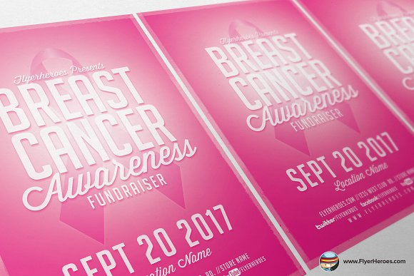 Cancer Awareness Fundraiser Flyer ~ Flyer Templates ~ Creative Market