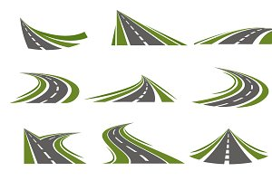 Circumflex Roads Logo Set