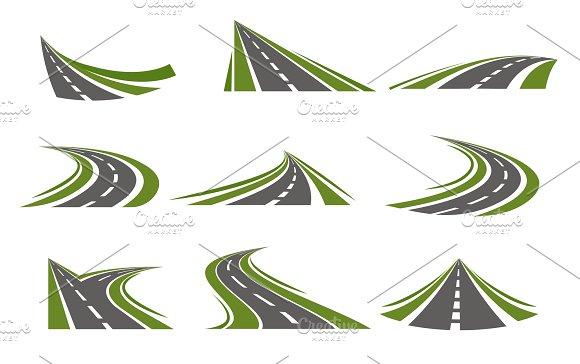 Circumflex Roads Logo Set