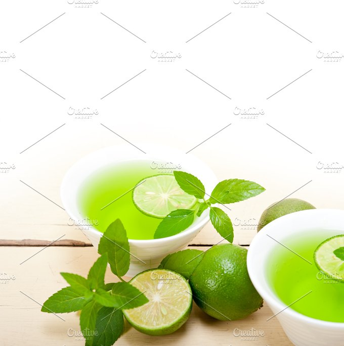 mint tea infusion with lime 034.jpg - Food & Drink