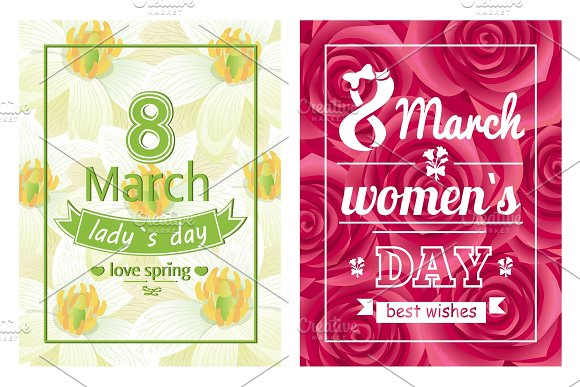 Ladies Day Love Spring 8 March Calligraphy Print