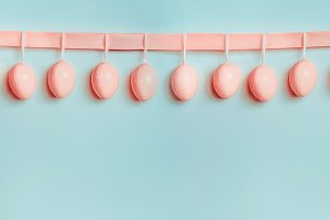 Pastel Easter banner or template