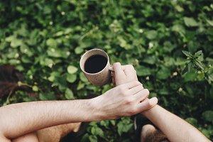 Man enjoying morning coffee