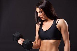 Woman fitness model