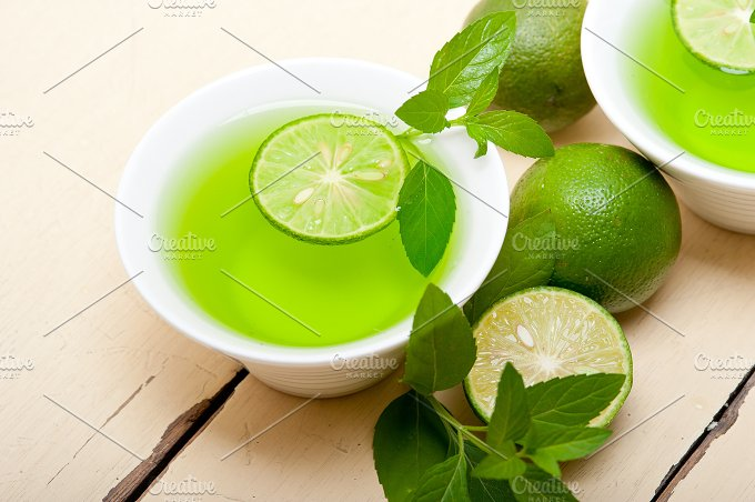 mint tea infusion with lime 039.jpg - Food & Drink