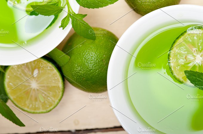 mint tea infusion with lime 042.jpg - Food & Drink