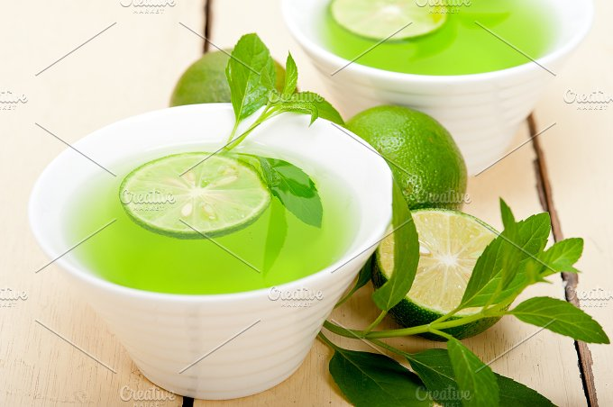 mint tea infusion with lime 047.jpg - Food & Drink