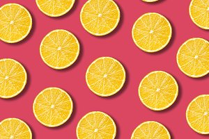 Vibrant lemon fruit pattern