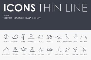 Yoga thinline icons